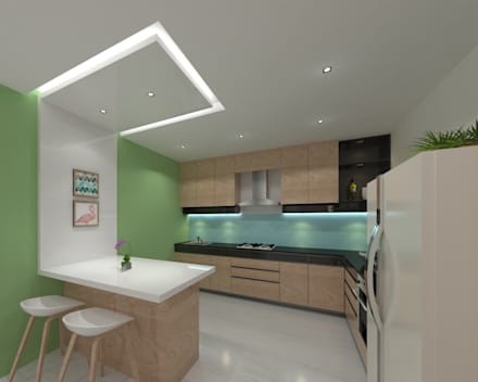 Built-in kitchens by Ravi Prakash/Architect