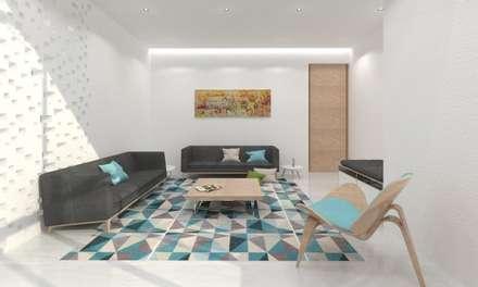 Living Room: minimalistic Living room by Ravi Prakash Architect