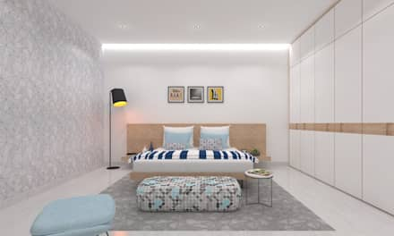 Son's Bedroom: minimalistic Bedroom by Ravi Prakash/Architect