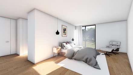 Casa GC: Quartos modernos por Helena Faria Arquitectura e Design