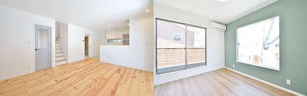 セミオーダー式デザイン住宅: オレンジハウスが手掛けた壁です。