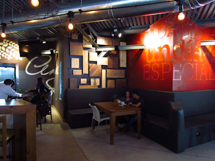 Panadería Andina: Restaurantes de estilo  por Loft 5101 F.P.