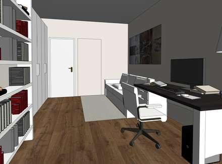 Open Space....avanti tutta: Studio in stile in stile Classico di MC Rendering Solution