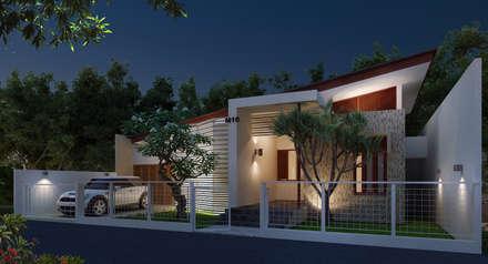 Casas unifamiliares de estilo  por Griya Cipta Studio
