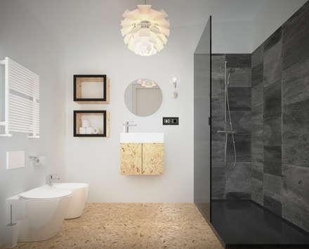 TRN-PEF: Bagno in stile in stile Minimalista di laib architecture