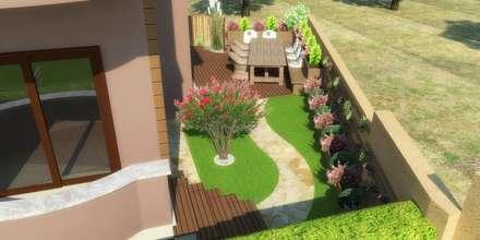 Mimari 3D Render  – Villa Bahçe ve Peyzaj Düzenlemesi: akdeniz tarzı tarz Bahçe