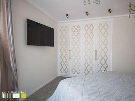 Идеи спален с шкафами 122