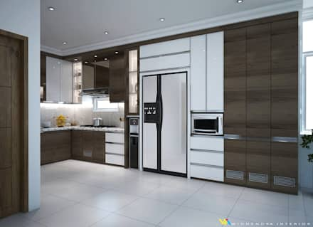 Kitchen units by Widhendra interior