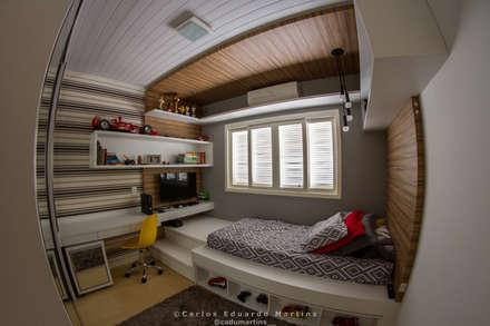 غرفة نوم مراهقين  تنفيذ Cadu Martins Arquiteto e Urbanista