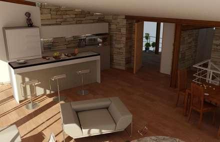 Armarios de cocinas de estilo  por Proyectonica