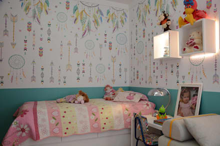 Girls Bedroom by arquiteta aclaene de mello