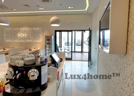 White pebble tiles walls - pebble tile mosaic manufacturer:  Walls by Lux4home™ Indonesia