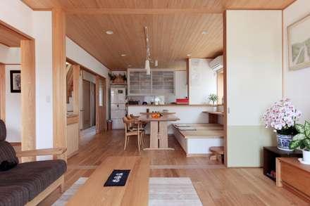 音羽町の家: 堺建築設計事務所が手掛けたリビングです。