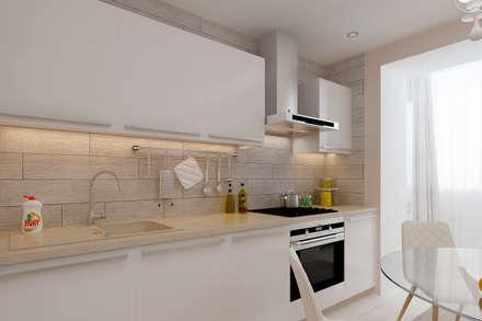 Квартира в Мытищи.: Кухни в . Автор – Дизайн и ремонт