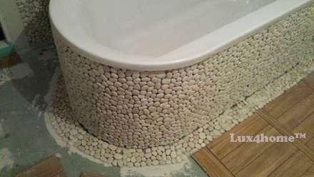 White Pebble Tiles Bathroom Ideas