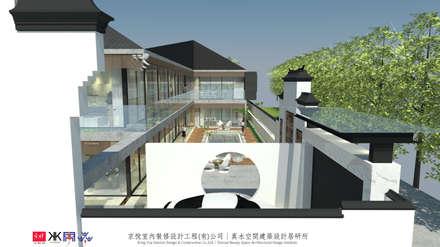 京悅蘇州:  庭院池塘 by 京悅室內裝修設計工程(有)公司|真水空間建築設計居研所