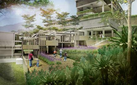 Classroom outdoor corridor:  Sekolah by Sanny Yuwono