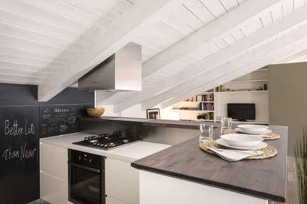 MANSARDA&TERRAZZO: Cucinino in stile  di Viú Architettura