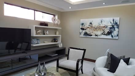 : modern Living room by SOJE Interior, Design and Decor PTY (Ltd)