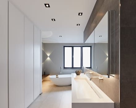 Haus S: moderne Badezimmer von Klaus Mäs Architektur