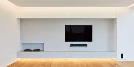 Haus S: moderne Wohnzimmer von Klaus Mäs Architektur