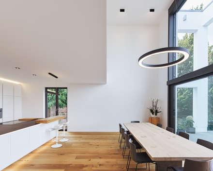 Haus S: moderne Esszimmer von Klaus Mäs Architektur