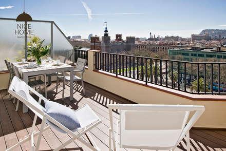 Proyecto Ático: Terrazas de estilo  de Nice home barcelona