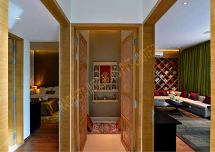 Residence at Pune:  Corridor & hallway by Racheta Interiors Pvt Limited