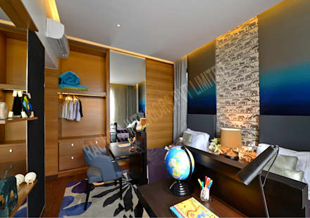 Residence at Pune:  Teen bedroom by Racheta Interiors Pvt Limited