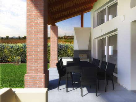 la loggia: Case in stile in stile Moderno di Flavia Benigni Architetto