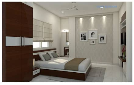 Project In Bachupally @ Praneeth Antilia To Peter: Asian Bedroom By Shree  Lalitha Consultants