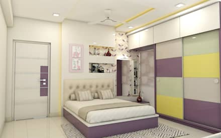 asian Bedroom by shree lalitha consultants