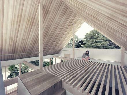 屋根裏: 富永大毅建築都市計画事務所が手掛けた屋根です。