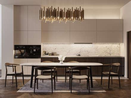 Appartamento di 98 mq uso affitto di lusso: Cucina in stile in stile Moderno di Archventil - Architecture and Design Studio