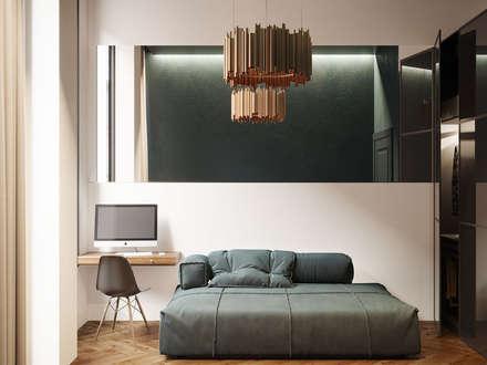 Appartamento di 65 mq per una coppia italiana, Londra, GB: Studio in stile in stile Moderno di Archventil - Architecture and Design Studio