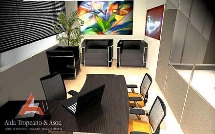 Oficina- Empresa: Estudios y oficinas de estilo moderno por Aida Tropeano & Asoc.