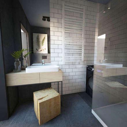 industrial Bathroom by Goryjewska.Górnisiewicz