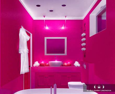 Дизайн-проект загородного дома в Крыму: Ванные комнаты в . Автор – Дизайн интерьера под ключ - GDESIGN