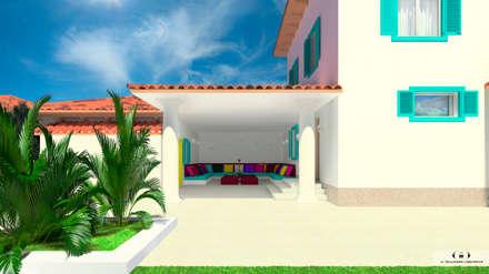 Дизайн-проект загородного дома в Крыму: Tерраса в . Автор – Дизайн интерьера под ключ - GDESIGN