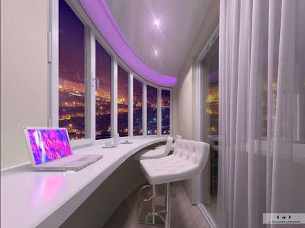 Дизайн-проект квартиры Уфа: Окна в . Автор – Дизайн интерьера под ключ - GDESIGN
