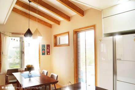청원3호 팔봉리 45평형 ALC복층주택: W-HOUSE의  주방 설비