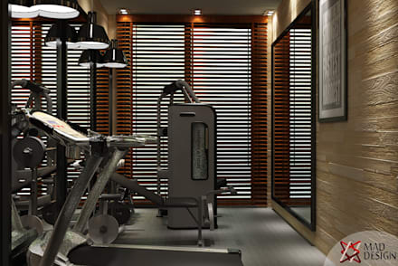 GYM AREA VIEW 2: modern Gym by MAD DESIGN