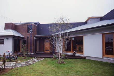 【サーフィンと子育て:平屋の暮らし】: (株)独楽蔵 KOMAGURAが手掛けた庭です。