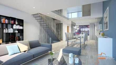 Exceptional Perspectivas 3D   Comedores: Salones De Estilo Moderno De Realistic Design