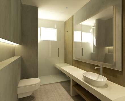 VIVIENDA R LA GARRIGA: Baños de estilo moderno de inzinkdesign