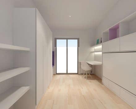 REFORMA MP BARCELONA: Dormitorios infantiles de estilo minimalista de inzinkdesign