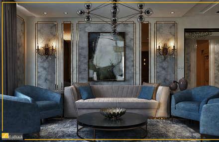 فيلا تاج سلطان:  غرفة المعيشة تنفيذ Art Attack