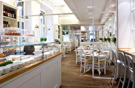 Biancolatte -Cucina, Caffè, Gelato, Pasticceria, Shop, Fiori, lifestyle - Milano: Negozi & Locali commerciali in stile  di Andrea Rossini Architetto