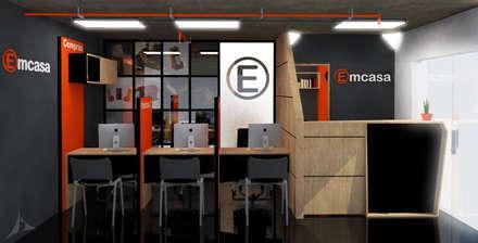 Area de atención a clientes: Oficinas y Tiendas de estilo  por Jorge Osorio Arquitecto