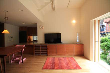 シコウの家(思考・試行・嗜好): 鈴木浩介建築設計事務所が手掛けたリビングです。